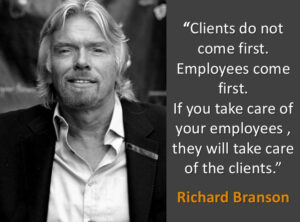 Richard Branson - Employees come first